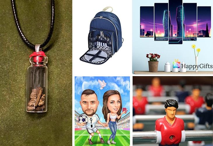Мъжки подаръци за свети валентин; интересен подарък, медальон, раница за пикник, пано за стена, футболна карикатура, джаги