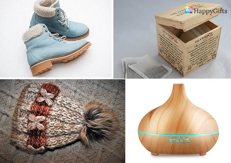 подаръци за дъщеря, подарък за дъщеря, дифузер за въздух, ароматерапия, обувки, зимна шапка