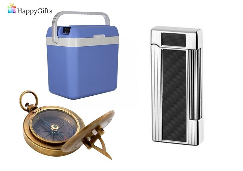 ловни сувенири; хладилна чанта, компас, запалка