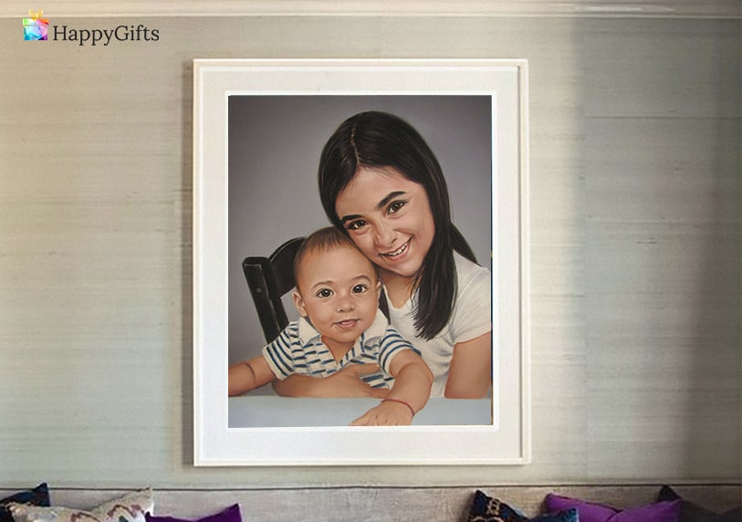 Подарък за 1 годишно момче; портрет по снимка