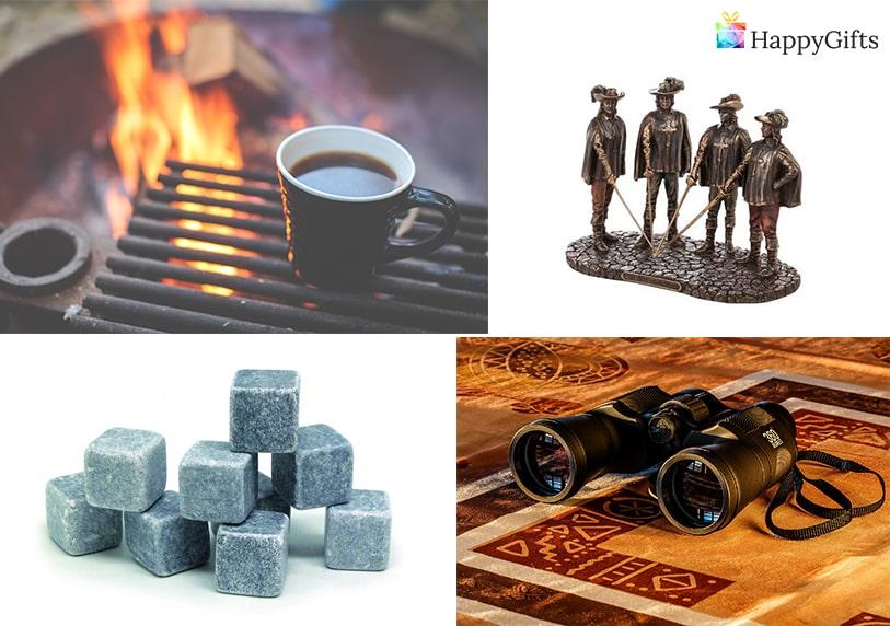 нестандартни подаръци, Охладители за напитки от естествен камък, къмпинг, бинокъл, статуетка,