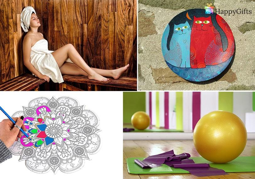 оригинален подарък, прахосмукачка робот, мандала, йога топка, спа, сауна