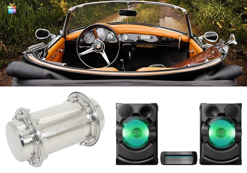 Оригинални подаръци; кола, капсула на времето, музикална уредба