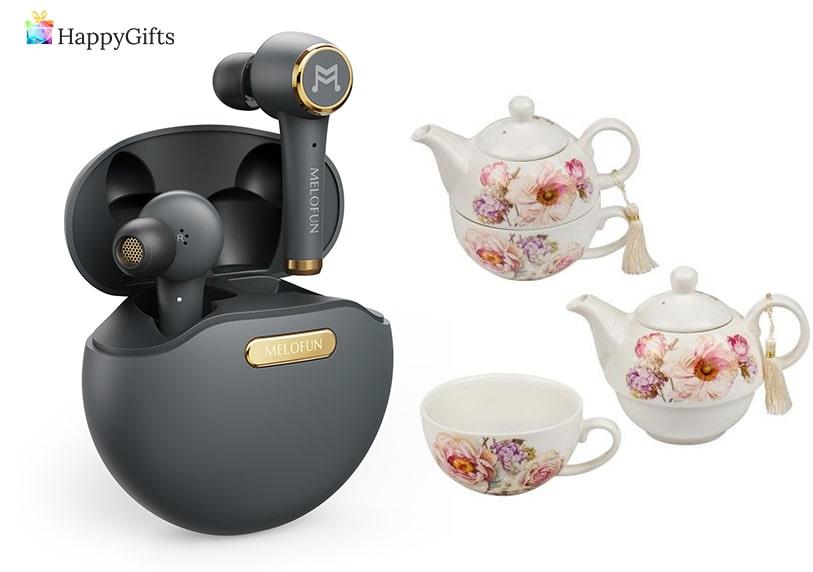 Оригинални подаръци; безжични слушалки, сервиз за чай