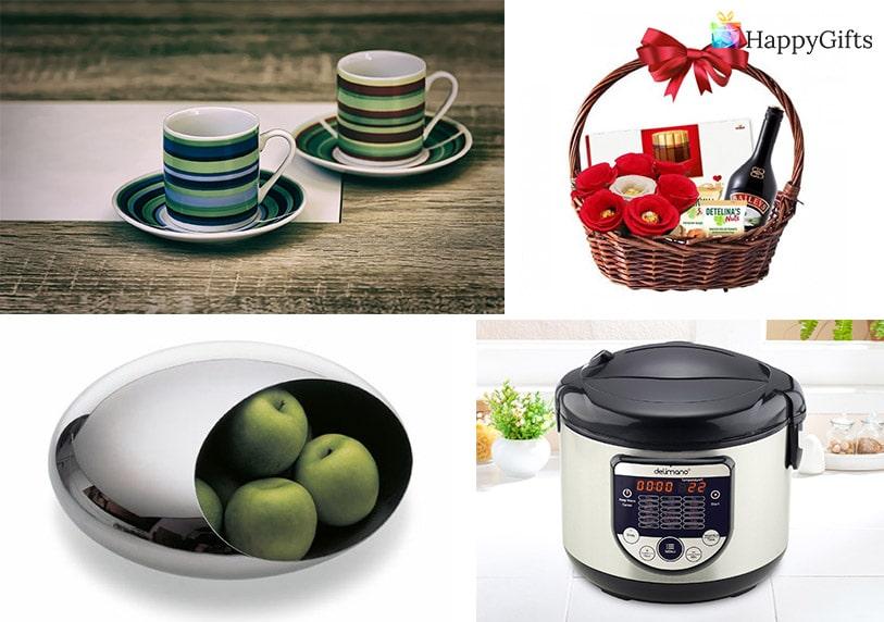 чаши, подаръчна кошница, мултикукър, фруктиера, подаръци за рожден ден на жена