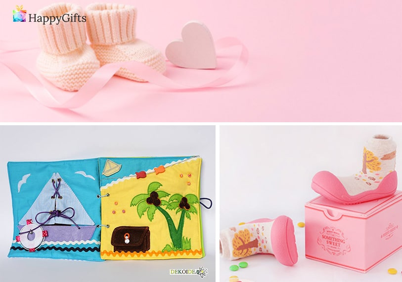 Подарък за бебе на 1 годинка; дрешки, бебешки обувки, музикално килимче