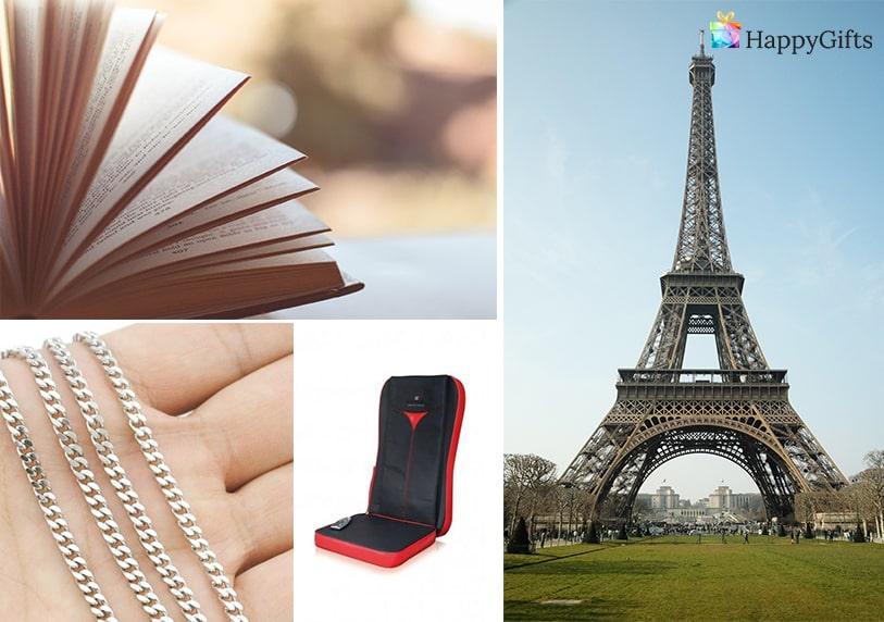 подарък за любимия, книга, екскурзия, комплект колан и портфейл, ланец.