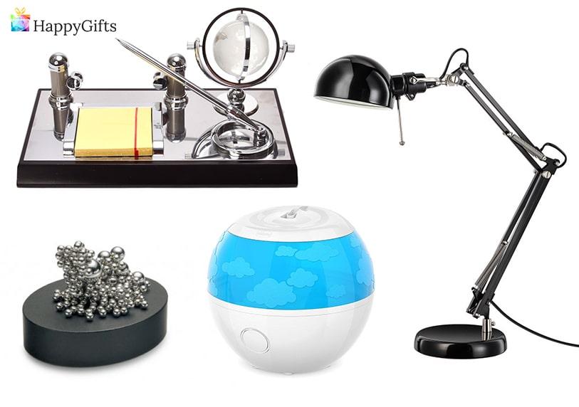 подарък за шефа, антистрес аксесоар, органайзър за бюро, овлажнител за въздух, лампа за бюро