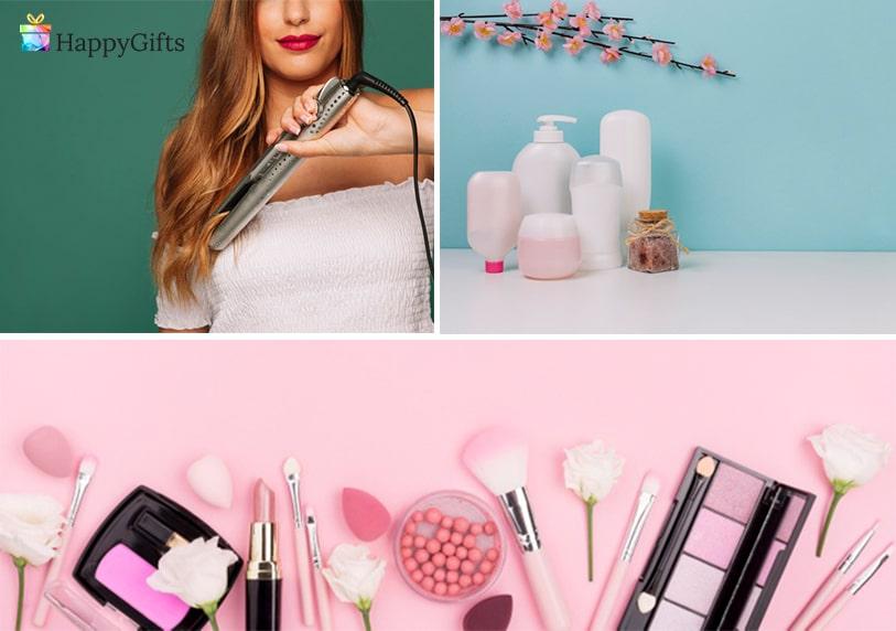 подаръци за дъщеря, подарък за дъщеря, преса за коса, комплект козметика, комплект гримове, хубави гримове