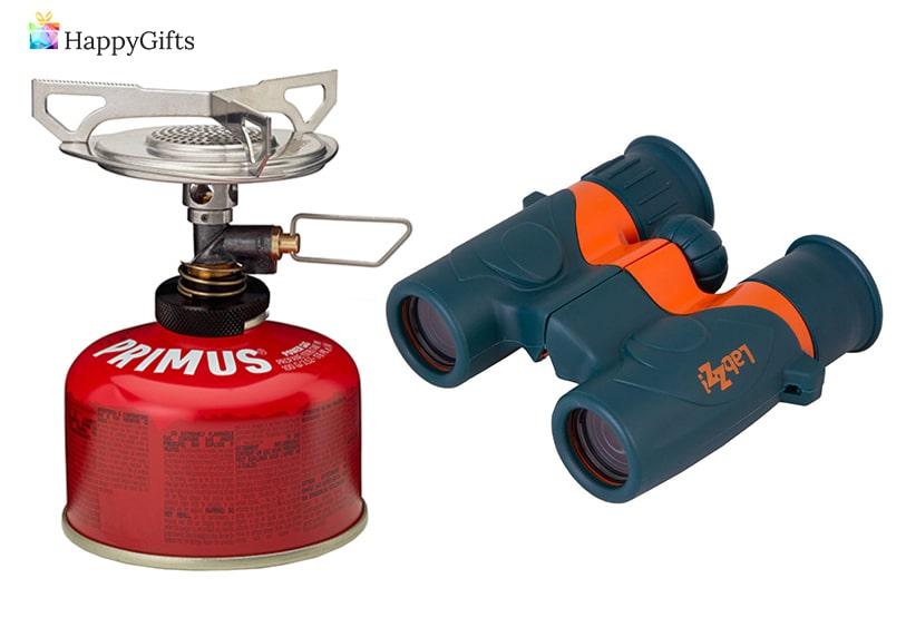 подходящи подаръци за ловец; газов котлон, бинокъл