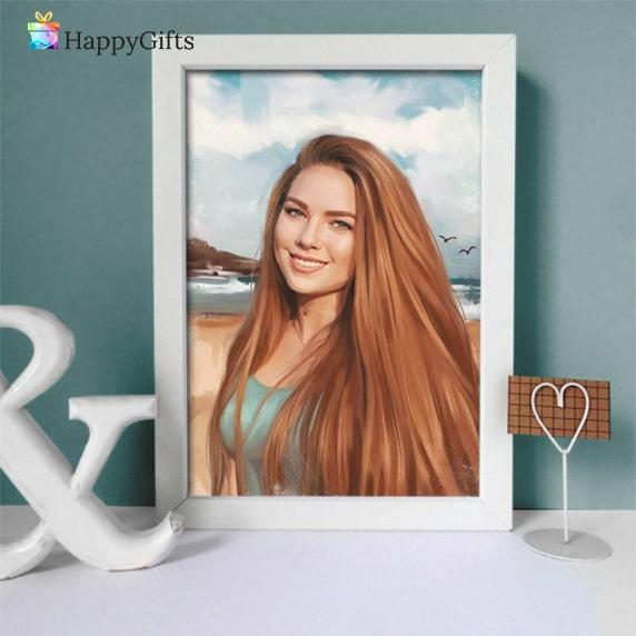Подарък за 18 годишнина; портрет