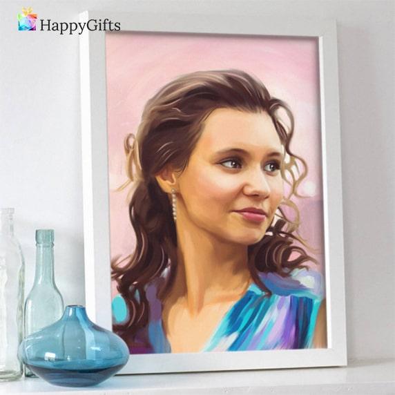Подаръци за 30-ти рожден ден на жена; портрет по снимка