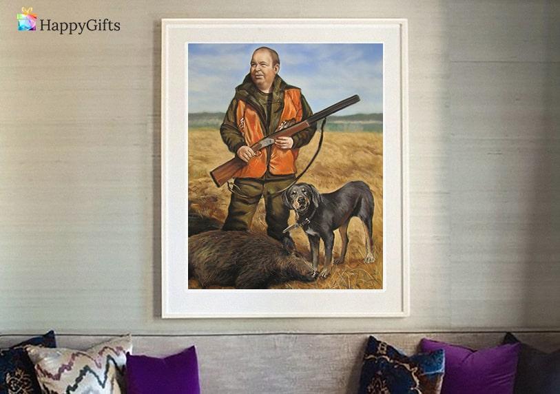 оригинални подаръци за ловец, ловна картина