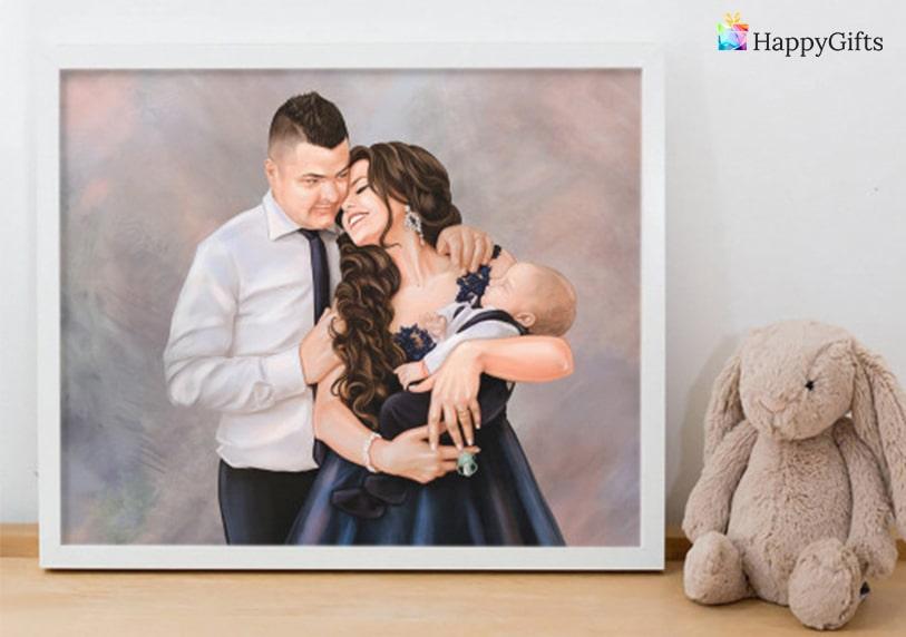 подарък за майка, подарък за мама, портрет с бебе, портрет на бебе