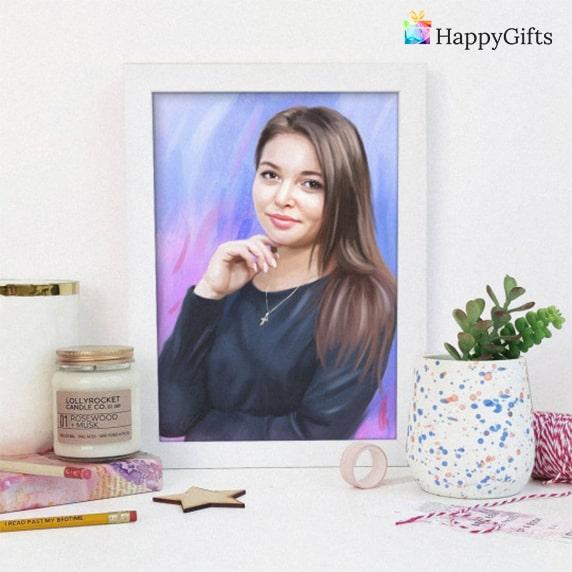 Подарък за 20 годишен юбилей; портрет
