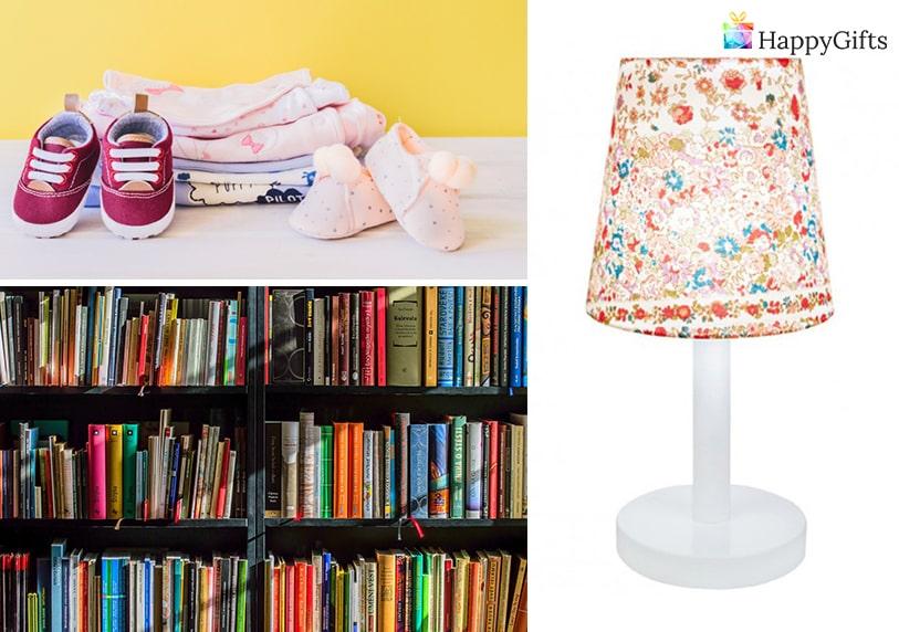подаръци за рожден ден на дете, книги, дрехи, нощна лампа