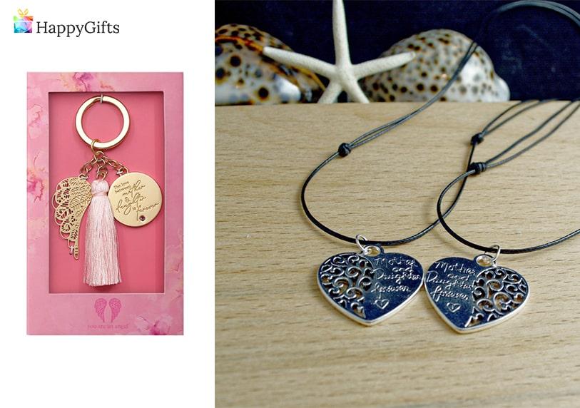 подарък за дъщеря, подаръци за дъщеря, медальони, ключодържател