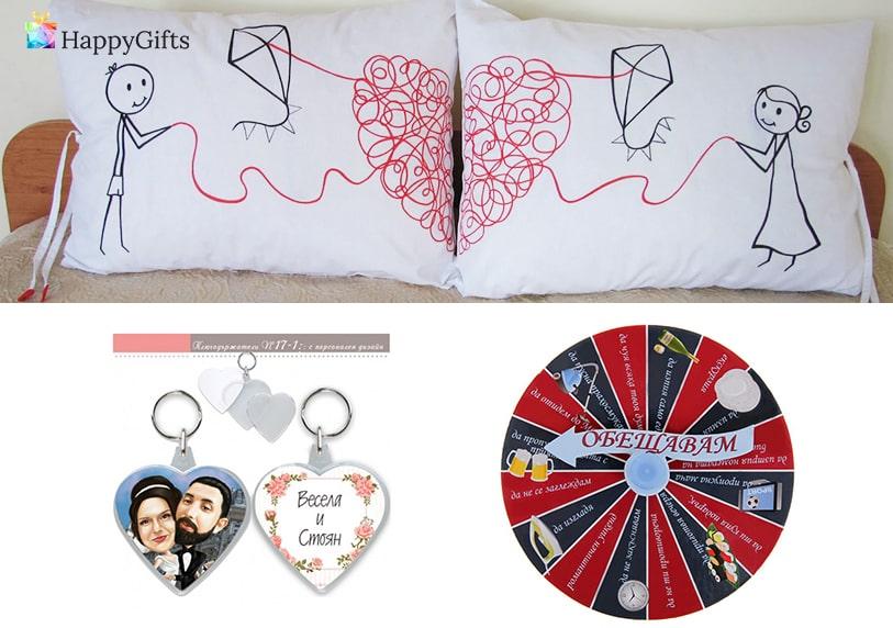 подаръци за Свети Валентин, възглавници, калъфки, ключодържатели сърца, Колело на обещанията