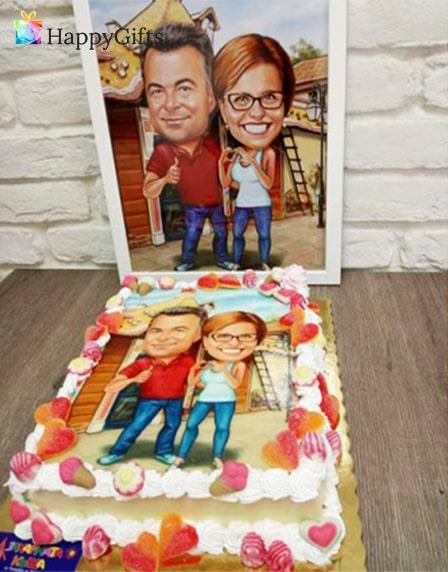 торта с карикатура