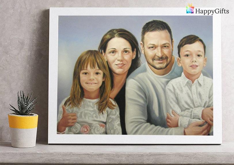 подарък за майка, подарък за мама, портрет за юбилей