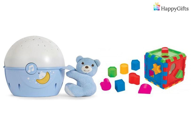 подарък за дете на 2 годинки, Играчка за нареждане, нощна лампа
