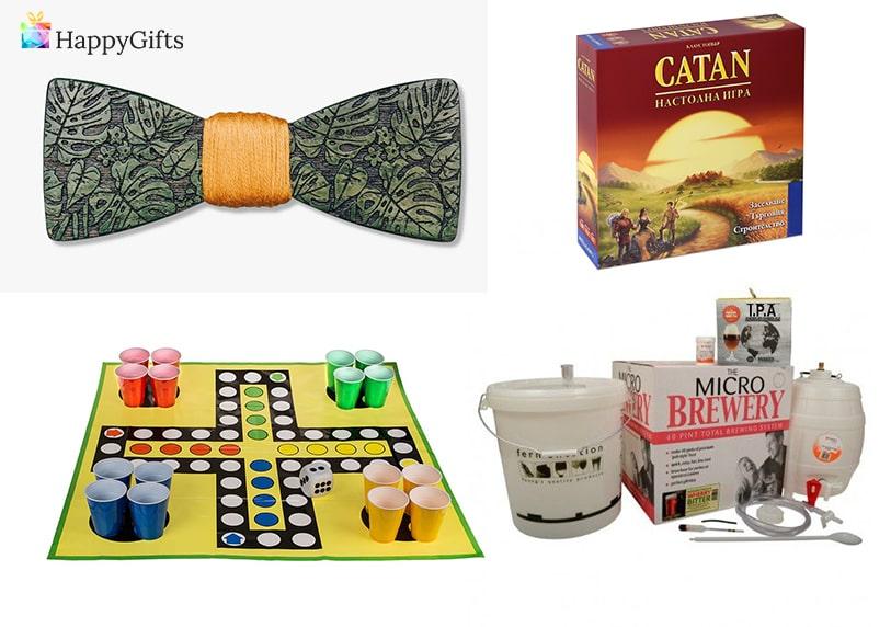 подарък за ергенско парти, папионка, катан, не се сърди човече с шотове, комплект за бира