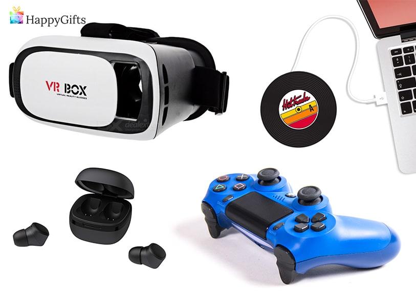 подарък за приятел, подарък за геймър, джойстик, 3d очила, USB нагревател, безжични слушалки