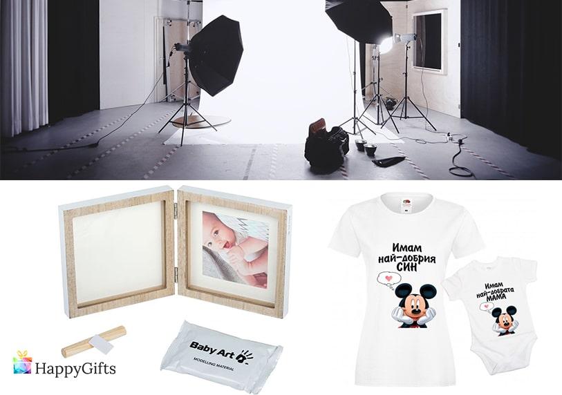 подарък за майка, подарък за мама, фотосесия, рамка, отпечатък от краче, тениски