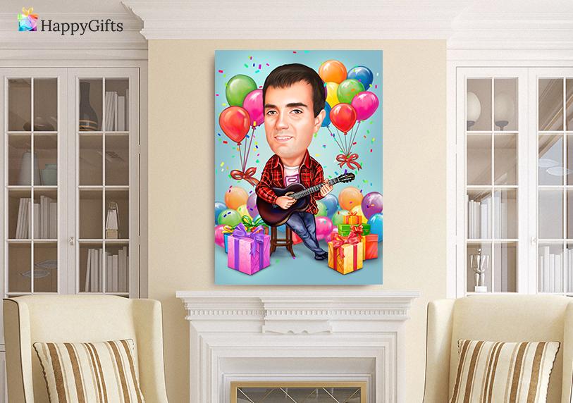 Подарък за рожден ден 40 годишнина; забавен шарж