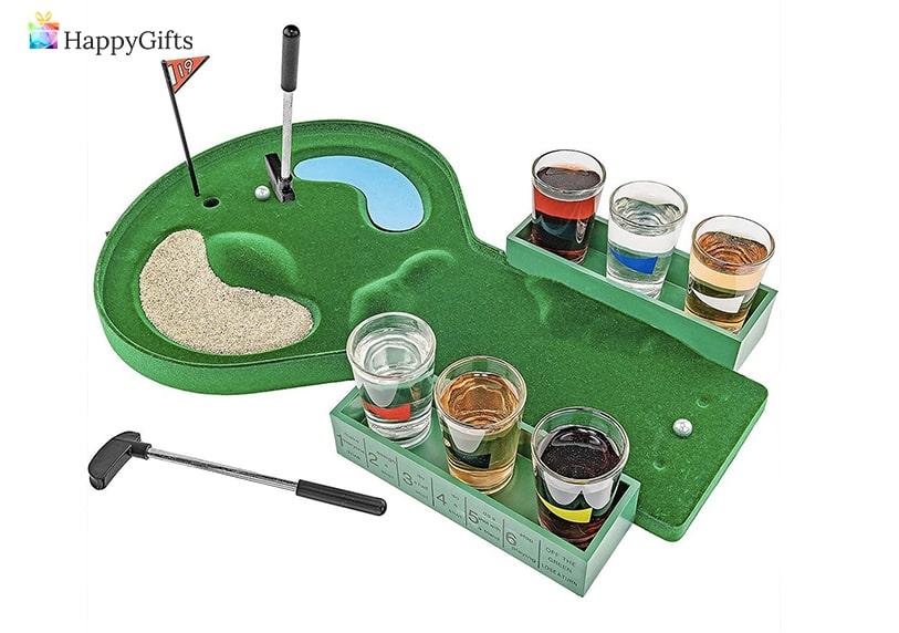 закачлив подарък за шефка, мини голф с шотове