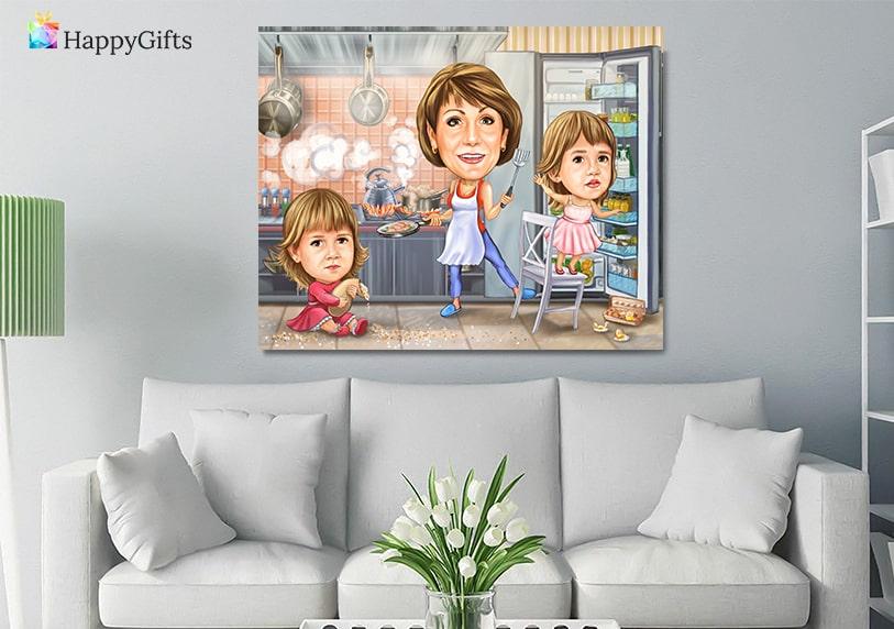 подаръци за тъща грижовна баба; карикатура за баба