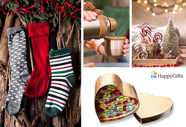 """евтини коледни подаръци; чорапи, термо чаша, коледна играчка за елха, """"обичам те"""" на 100 езика"""