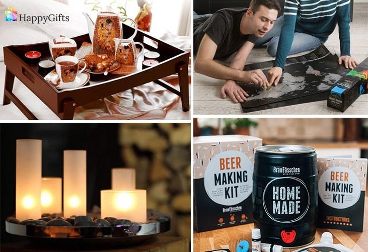 коледни подаръци онлайн; табла за леглото, скреч карта, маслена лампа, комплект за бира
