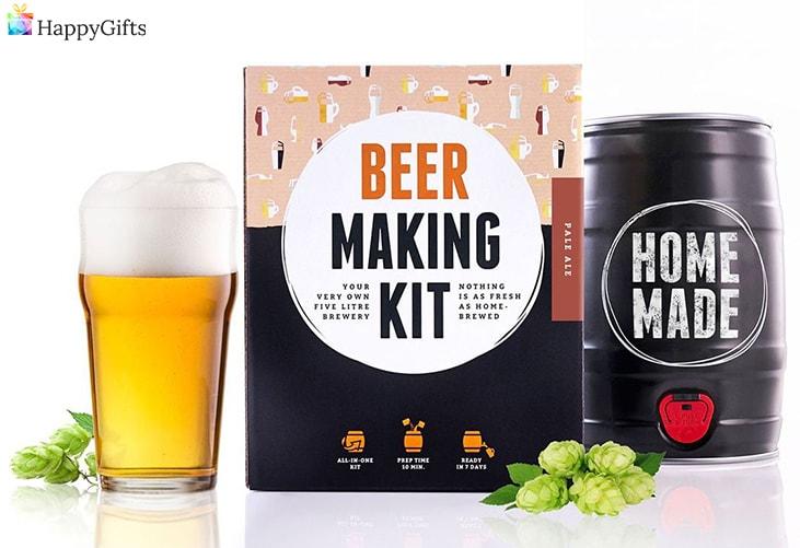 направи си сам подаръци за баща; комплет за правене на бира