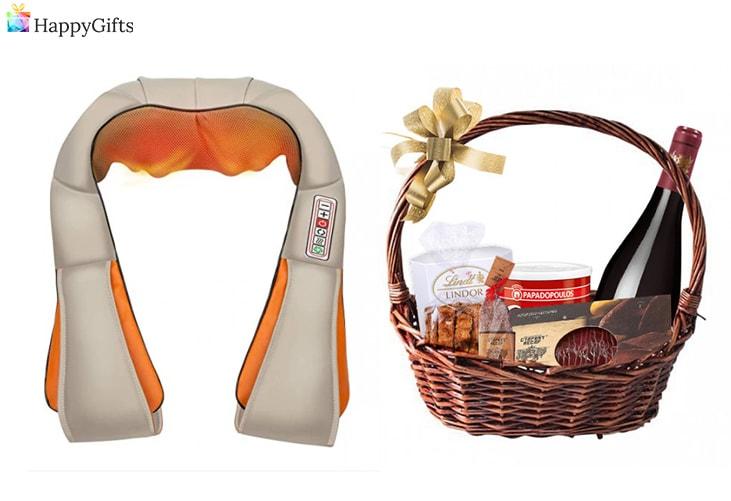 идеи за коледен подарък за любимия; масажор за гръб, подаръчна кошница