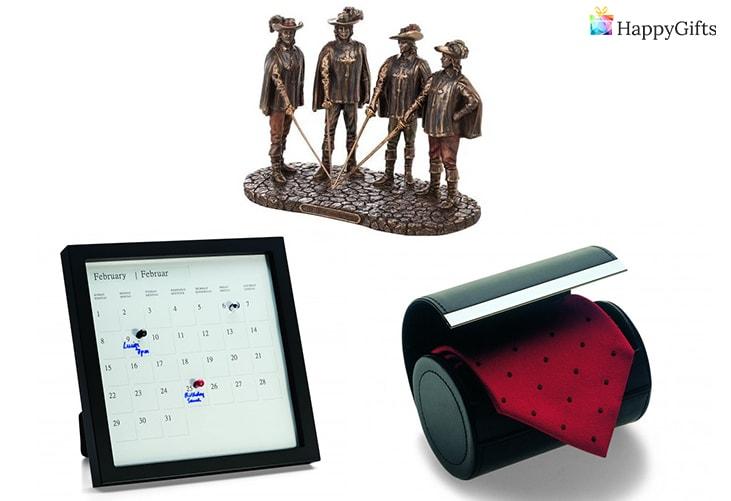 вечен календар, статуетка, кутия за вратовръзка