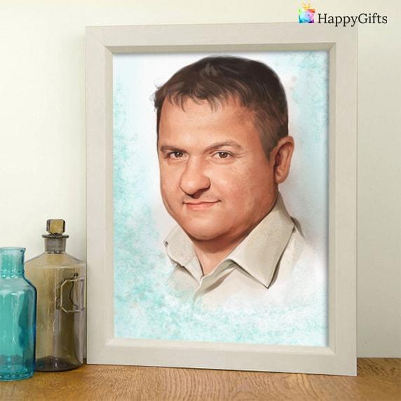 ръчно изработени подаръци за татко; портрет
