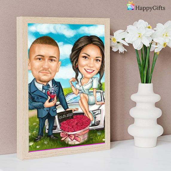 карикатура за двойки мъж и жена свети валентин