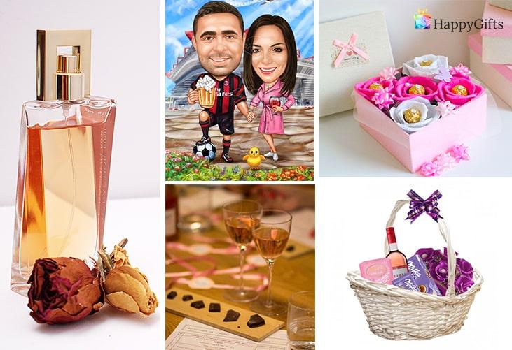 Най-добрият подарък за половинката; парфюм, карикатура, шоколадов букет, дегустация на шоколад, подаръчна кошница
