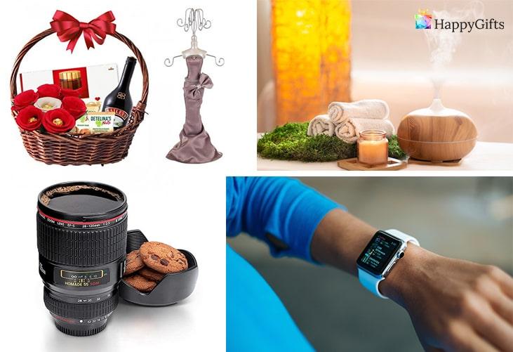 Оригинални идеи за подарък за 14 февруари за момиче; подаръчна кошница, поставка за бижута, чаша обектив, спа уикенд, смарт часовник