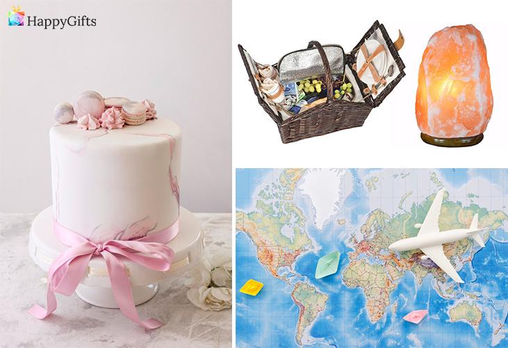 Подарък за 70 години; торта, кошница за пикник, лампа, екскурзия