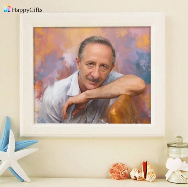 Подарък за 70 години; портрет по снимка