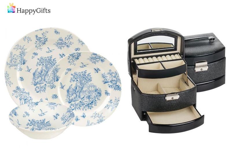 Практични подаръци за 60 годишна дама; срвиз, кутия за бижута