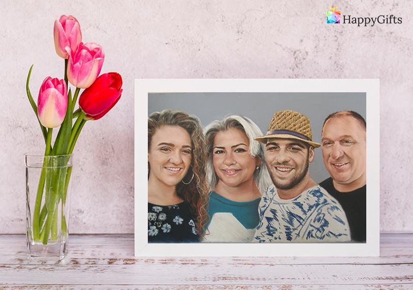 Подаръци за 70 годишен юбилей; семеен портрет