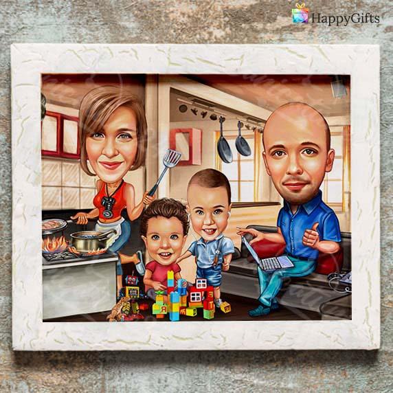 Семейна карикатура