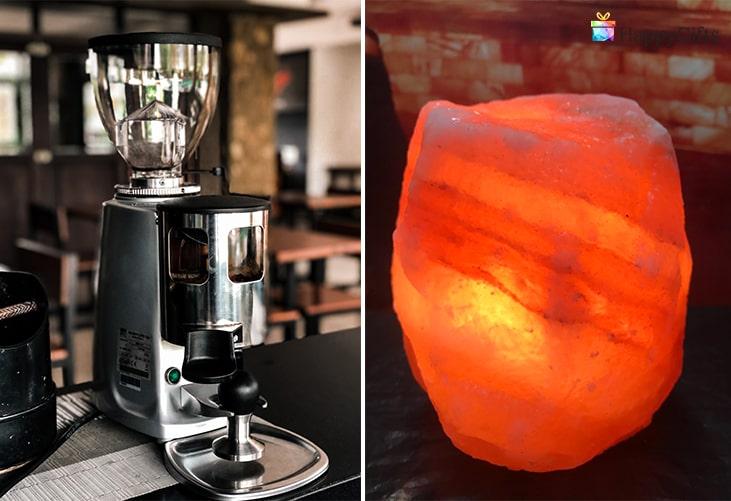 Идеи подходящи за свекърва за Йордановден; кафемашина, лампа