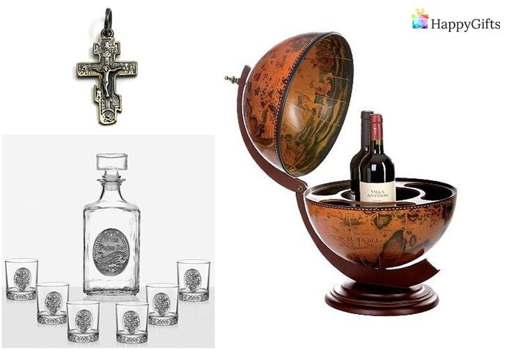 Какво да подарим на мъж за Йордановден; кръст, чаши, глобус бар
